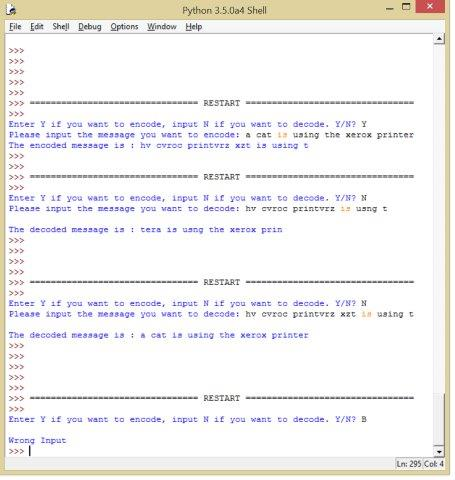 Python Encoder Decoder Program
