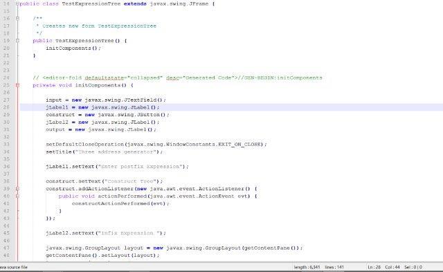 CMSC 350 Project 2 Java GUI Arithmetic Expression Evaluator